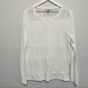 {Lucky Brand} White Thermal w/ Lace Detail